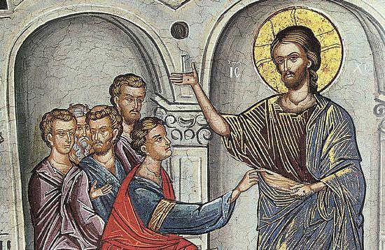 Антипасха. Фрагмент фрески «Уверение апостола Фомы »