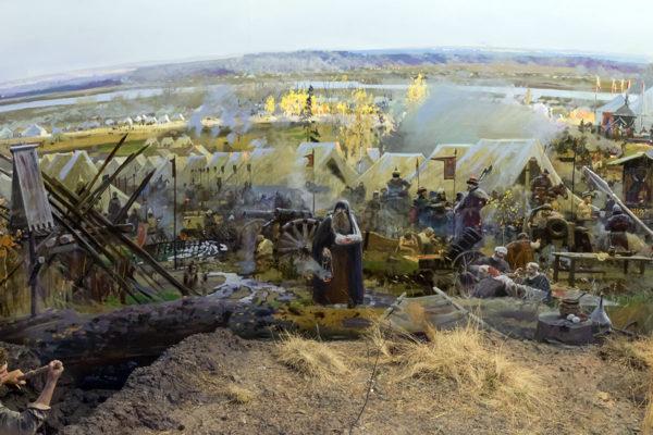 Фрагмент диорамы «Великое Стояние на реке Угре»